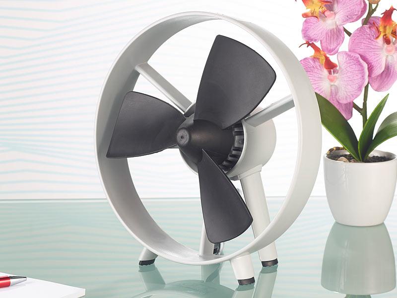 infactory tisch ventilator streamline im turbinen design