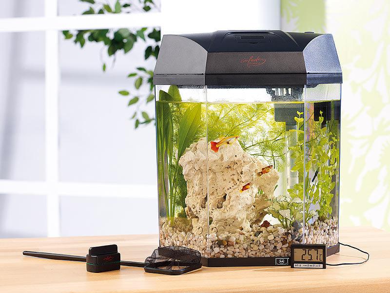 infactory panorama aquarium hexagon im komplett set refurbished. Black Bedroom Furniture Sets. Home Design Ideas