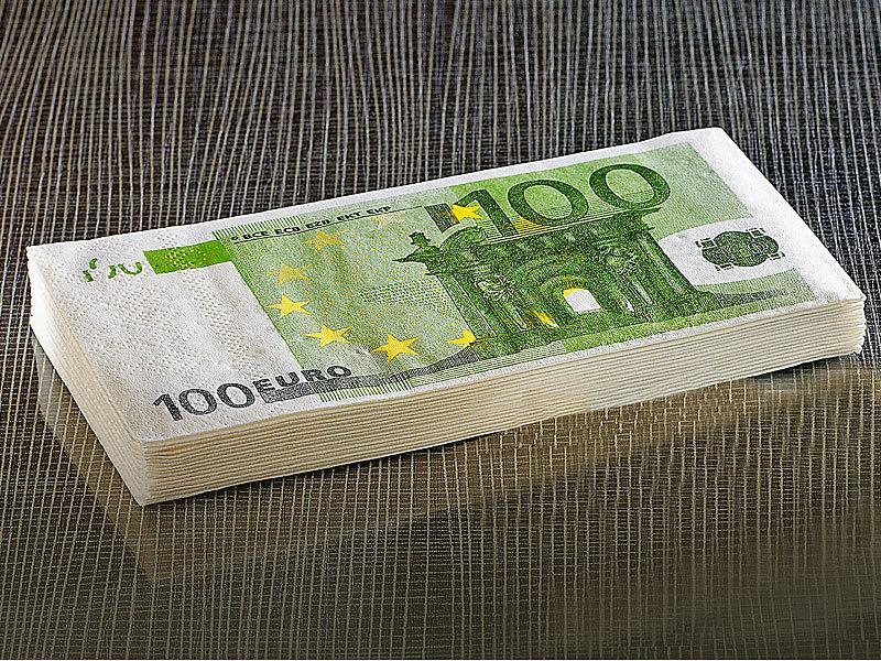 Infactory luxuri se servietten im 100 euro schein design for Tisch design servietten