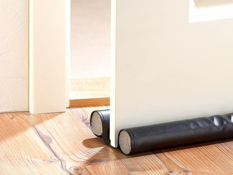 infactory kunstleder zugluft stopper f r t ren bis 60mm. Black Bedroom Furniture Sets. Home Design Ideas