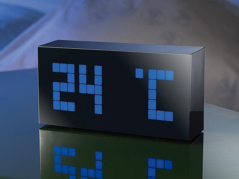 funk wanduhr mit temperaturanzeige
