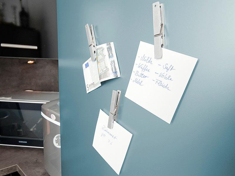 Kühlschrank Magnete : Infactory 5 vollmetall kühlschrankmagnete im wäscheklammer design