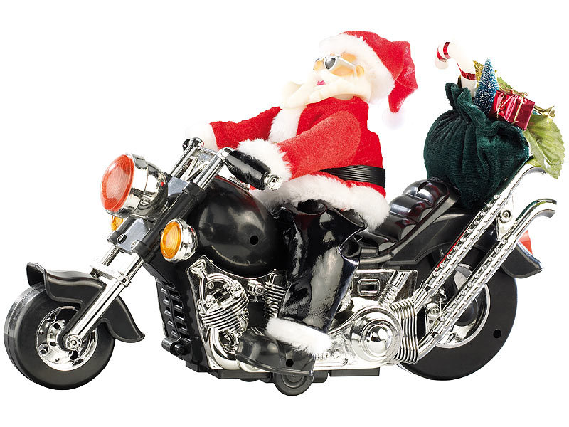 Frohe Weihnachten Motorrad.Weihnachtsmann Auf Motorrad Santa Bike
