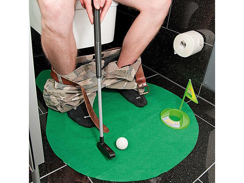 Infactory 7 Teiliges Golfspiel Set Fur Bad Wc Inkl Golf Grun Und