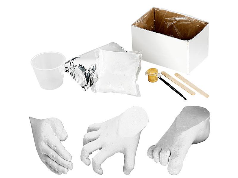 Gips Abdruck Set für Real 3D Formen Handabdruck Fußabdruck Gipsabdruck