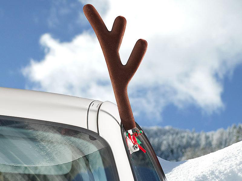 infactory Rentier-Verkleidung für Ihr Auto mit Geweih & roter Nase