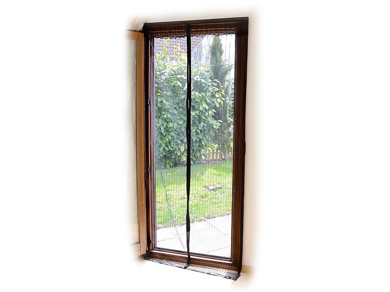 infactory selbstschlie endes premium fliegennetz f r t ren schwarz. Black Bedroom Furniture Sets. Home Design Ideas