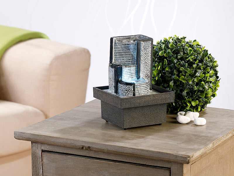 infactory zimmerbrunnen himmelstreppe mit pumpe und led ca 18 cm. Black Bedroom Furniture Sets. Home Design Ideas