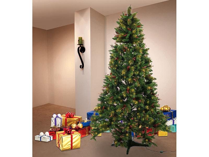 infactory Rotierender Weihnachtsbaum mit Deko und Beleuchtung, 180 cm