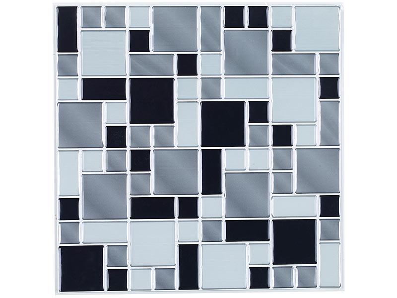 Infactory Selbstklebende 3d Mosaik Fliesenaufkleber Modern 26 X 26