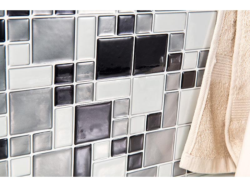 infactory Selbstklebende 3D-Mosaik-Fliesenaufkleber \