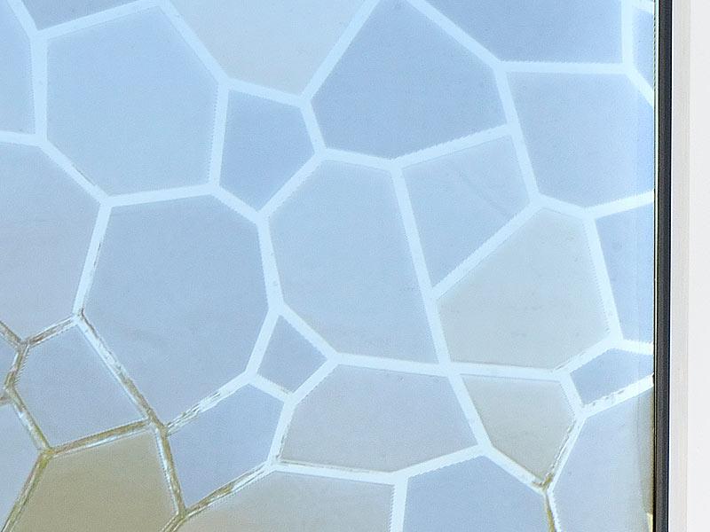 infactory 3d sichtschutz folie mosaik statisch haftend 40x200 cm. Black Bedroom Furniture Sets. Home Design Ideas