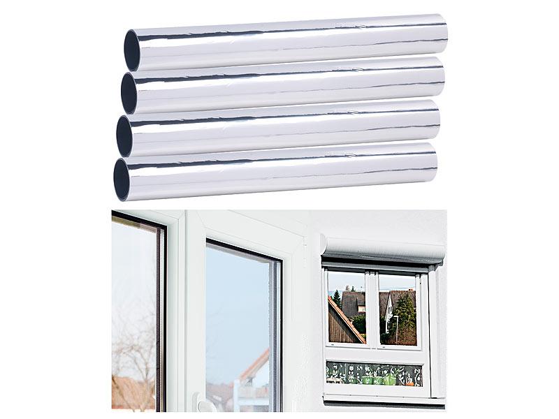 infactory 4er set selbsthaftende isolier spiegelfolie. Black Bedroom Furniture Sets. Home Design Ideas