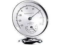 infactory Analoges Thermometer mit Hygrometer, 10 cm